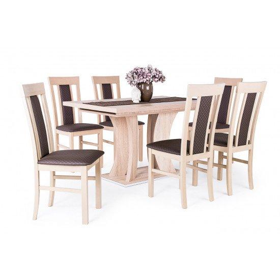 Bella asztal + 6 db Milano szék