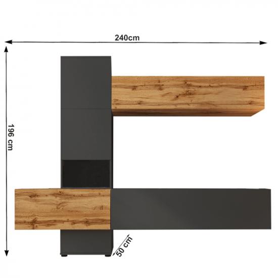 BRISTOL Nappali sor, lava barna szuper matt/tölgy wotan